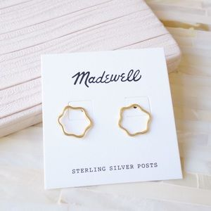 Madewell Circle Earrings in Vintage Gold